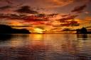 Sunset on Likuliku Lagoon