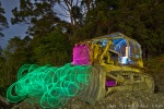 Dozer Light Painting