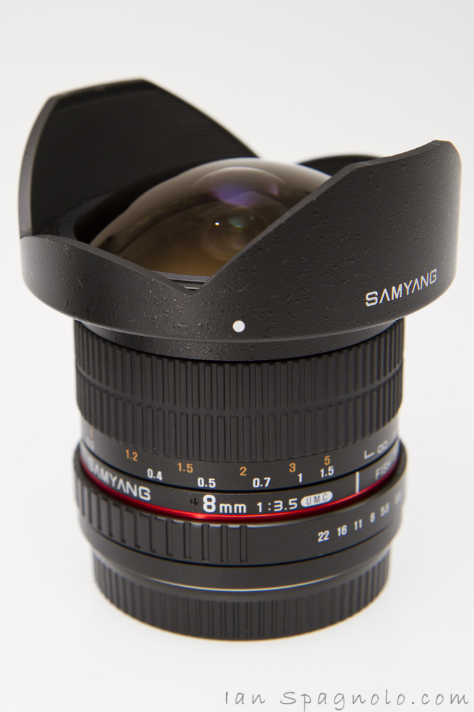 Samyang 8mm Fisheye Hood On
